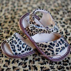 Leopard Print Squeaker Sandals