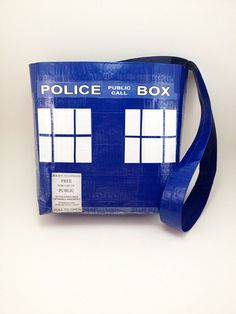 Doctor Who TARDIS Duct Tape Purse TARDIS Hand Bag by PyrateWench, $22.00