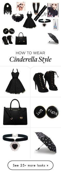 """""""Untitled #10"""" by pastel-potato on Polyvore featuring Giuseppe Zanotti, Disney, Kate Spade, Rock 'N Rose, Charlotte Russe and MICHAEL Michael Kors"""