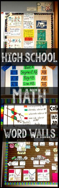 3 high school Math word wall ideas.
