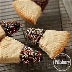 Coconut Shortbread #Cookies with Dark Chocolate from Pillsbury® Baking