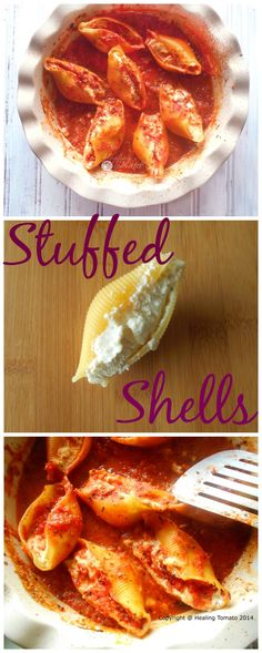 Stuffed shells are one of the most filling vegetarian dishes. This is a very simple and quick recipe for all to enjoy. The marinara sauce is… Lunch Recipes, Vegetarian Recipes, Cooking Recipes, Vegetarian Brunch, Pasta Recipes, Keto Recipes, That's A Spicy Meatball, My Favorite Food, Favorite Recipes