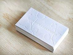 Embossed Business Card Design