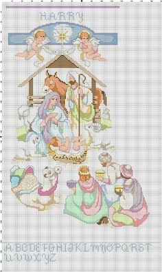 Nativity Christmas Stocking Counted Cross Stitch