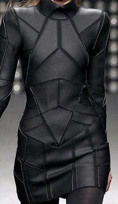 Geometric Paneled Mini-Dress - Gareth Pugh