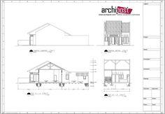 contoh gambar denah dan potongan rumah 2