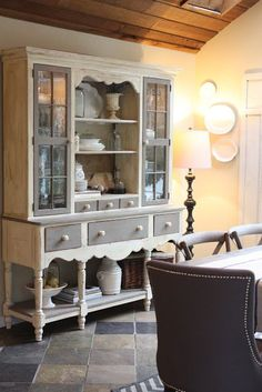 Painted hutch & buffet