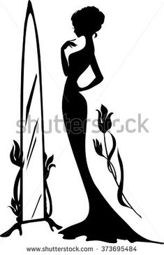 stock-vector-woman-in-an-evening-dress-vector-illustration-elegant-lady-stand-ne. - Women's style: Patterns of sustainability Silhouette Mode, Woman Silhouette, Drawing Sketches, Art Drawings, Black Cartoon, Decoupage Vintage, Vector Art, Vector Graphics, Stencil Templates