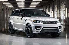 Exterior design: Range Rover Sport stealth pack.