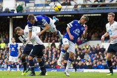 Credit: Jon Super/AP Everton's Philip Jagielka goes A over T