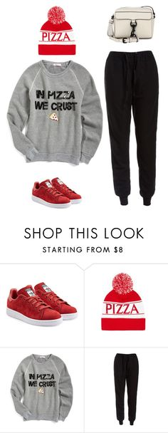"""In Pizza we crust"" by musicfriend1 ❤ liked on Polyvore featuring adidas Originals, Forever 21, Bow & Drape, Sans Souci and Rebecca Minkoff"