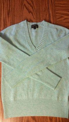 J. CREW Women's wool cashmere blend sweater small  #JCrew #VNeck