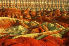 """Tabriz, Iran   """"Colorful Mountains"""" by Ali Shokri, via 500px."""