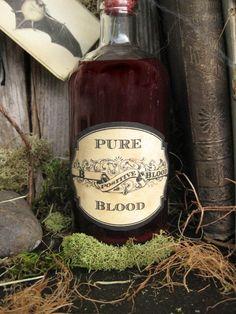 halloween vampire party | Vintage Halloween Vampire Drink Labels Party Favors by brandywine