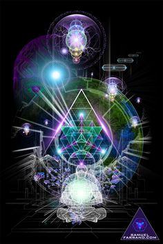 ༺ The Art of Samuel Farrand ༻ Sacred Geometry. Networked Energy.