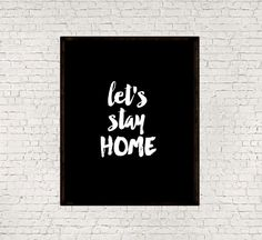 Let's stay homeInstant downloadMotivational by mixarthouse on Etsy