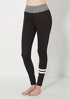 Gray Varsity Striped Yoga Pant