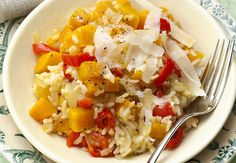 Risotto with Butternut squash and bell pepper
