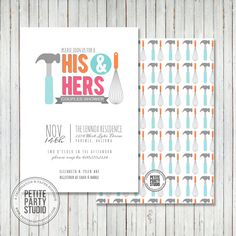 Couples Wedding Shower Party Printable by PetitePartyStudio, $15.00