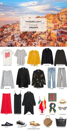 What to Pack for Greece Packing Light List | What to pack for Greece | Packing Light | Packing List | Travel Light | Travel Wardrobe | Travel Capsule | Capsule |