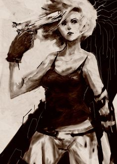 Meryl with an Evoker drawn on the MGS art studio website Video Game Art, Video Games, Video Game Characters, Fictional Characters, Metal Gear Solid, Persona, Gears, 4 Life, Snake