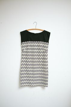 Harumi K Metallic Chevron Shift Dress