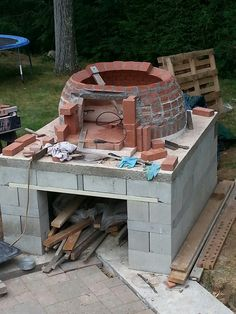 Making the oven dome.