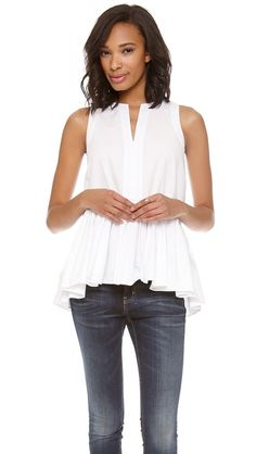 Tibi Sleeveless Top - lovelovelovelovelove! anyone know where to find a similar one? might learn to sew for this...