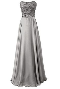 Sunvary Gorgeous Rhinestones Chiffon Bridesmaid Dresses Prom Gowns for Evening Long- US Size 4- Silver Sunvary http://www.amazon.com/dp/B00LJKVSI8/ref=cm_sw_r_pi_dp_3hiVub1VNH86M