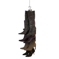 Boots take up more space than anything else in our closets.  This clever product, let's you store them vertically so 6 pairs of boots will take up just 7 inches of space! Keeps your boots in good shape too--no more creases!