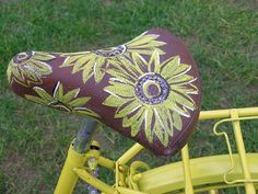Saddle, Bicycle, Flowers