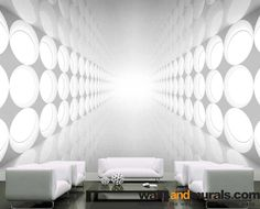 Glowing Lights in 3D Bright Wallpaper