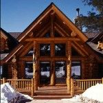 A rugged log home in New Mexico. Photos and plans at loghome.com
