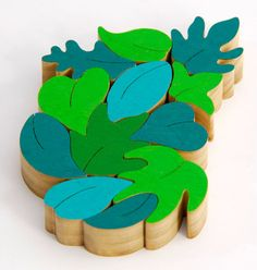 Wood Puzzle On Sale, Leaf Balancing Puzzle, Eco-friendly toy, Educational Toy, Creative Puzzle, Green leaves on Etsy, $31.00