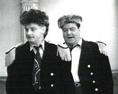 Jackie Gleason & Art Carney, as members of the Raccoons on 'The Honeymooners' TV show, timeless comedy routines.