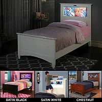 LightHeaded Beds Canterbury Twin Bed with Changeable back-lit LED Headboard Imagery (Various Colors) - Sam's Club
