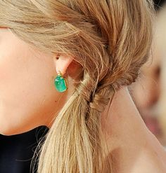 gorgeous side ponytail