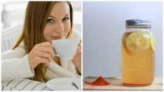 Improve the well-being of your body with turmeric and lemon water Ayurveda, Detox, Lemon Water, Glass Of Milk, Health Tips, The Cure, Wellness, Ethnic Recipes, Food