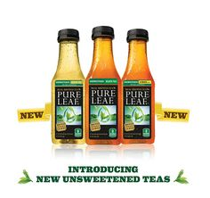 Real leaf-brewed tea unsweetened. Introducing new unsweetened teas.