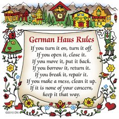 German Gift Idea Magnet (German Haus Rules)