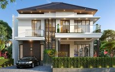 Facade Design, Exterior Design, Architecture Design, Design Architect, House Paint Exterior, Exterior House Colors, French House Plans, Style Villa, Home Styles Exterior