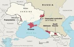 Separitist areas supported by Russia