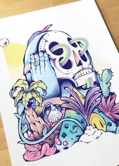 Nature always wins Printed on luxurious fine art paper Available in 2 sizes Psychedelic Art, Graffiti Art, Copic Marker Art, Stoner Art, Skeleton Art, Hippie Art, Art Drawings Sketches, Cartoon Styles, Graphic Design Art