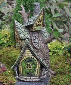 Look what I found on #zulily! Fairy Treehouse Garden Figure #zulilyfinds