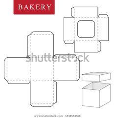 Box Template: Bilder, Stockfotos und Vektorgrafiken Package for bakery Diy Gift Box, Diy Box, Diy Gifts, Paper Box Template, Origami Templates, Diy And Crafts, Paper Crafts, Foam Crafts, Box Patterns