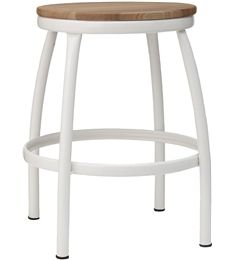 Via Hema | White and Wood | Stool