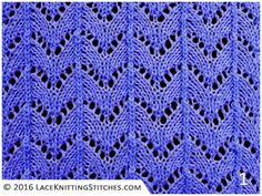 Here is a popular, classic lace stitch pattern. It's called Horseshoe. It is an ideal choice for those learning to knit lace patterns as it is simple and will offer excellent drape to a garment.