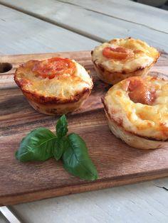 Pizza muffins med kylling og ost | Homemade – mad, rejser & DIY