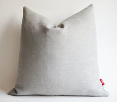 On Sale  Gray Linen Pillow  gray cushion  throw pillow  by sukan, $40.00