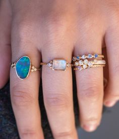 Moonstone Prism with Side Diamonds - Audry Rose